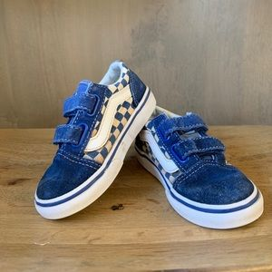 Vans Toddler size 7 blue checkered sneakers